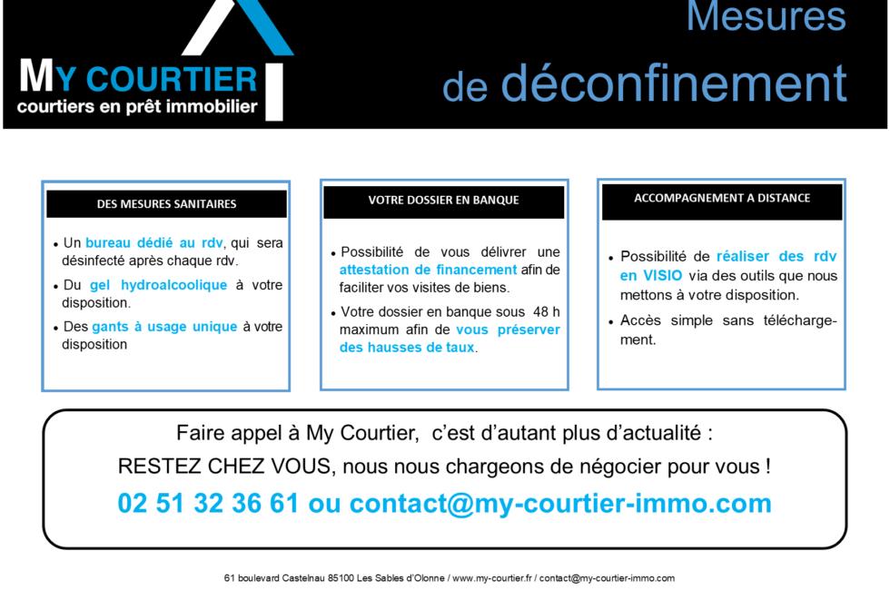 Information déconfinement Covid-19 My Courtier Les Sables d'Olonne